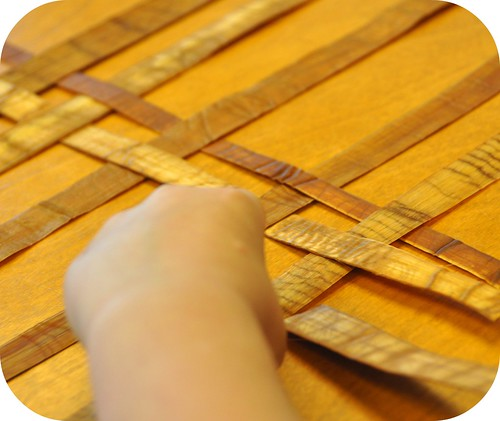 Weaving bark