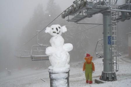 Do Skiareálu Lipno dorazila zima