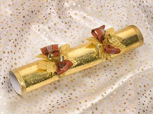 Designer Crackers - gold with brown check