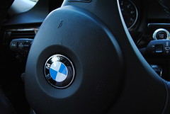cha dude (jessicaraniess) Tags: black leather bmw steeringwheel icey