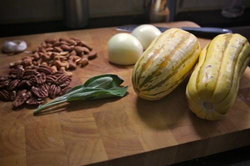 sage nuts garlic onions squash