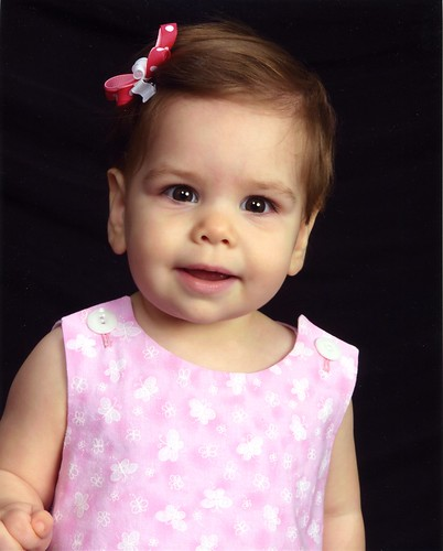 Leah 1 year portrait