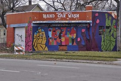 Hand Car Wash (sklender) Tags: hands ruins colorful detroit creepy carwash handcarwash creepyhands sklender