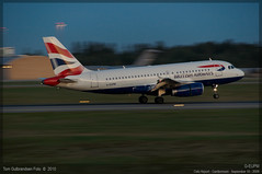 British Airways - A319 - G-EUPM (Tom McNikon) Tags: twilight ba britishairways osl a319 engm airbus319100 osloairportgardermoen geupm aurbus