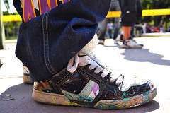 Hard Work (Lazytigre) Tags: shoes paint dirtyshoes