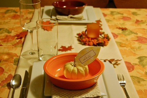 thanksgiving table setting tablescape