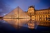 bijou classique (helen sotiriadis) Tags: blue orange paris france reflection water yellow museum architecture canon gold lights twilight published pyramid louvre bluehour canonefs1022mmf3545usm canoneos40d updatecollection
