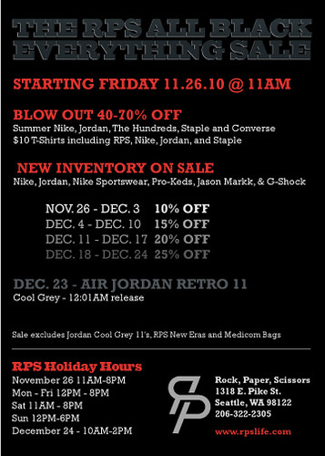 The RPS Black Friday Sale 2010