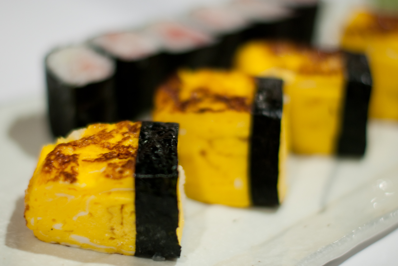 Tamago Sushi and Negihama Maki