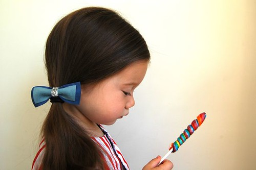 bow tie ponytail holder
