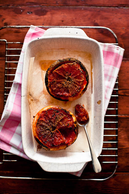 Grilled Grapefruit with Cinnamon Sugar