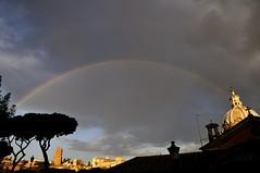 "Arcobaleno a Roma - Rainbow to rome (luporosso) Tags: italy naturaleza rome roma nature landscape italia natura arcobaleno paesaggio raimbow naturalmente d300s ""nikonflickraward"" luporosso nikond300s theauthorsplaza ¤gigilivornosfriends¤ rainbowtorome arcobalenoaroma"
