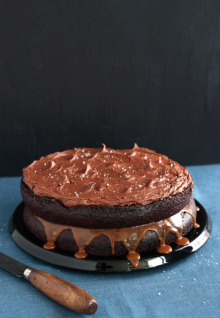 Salted Caramel Chocolate Cake