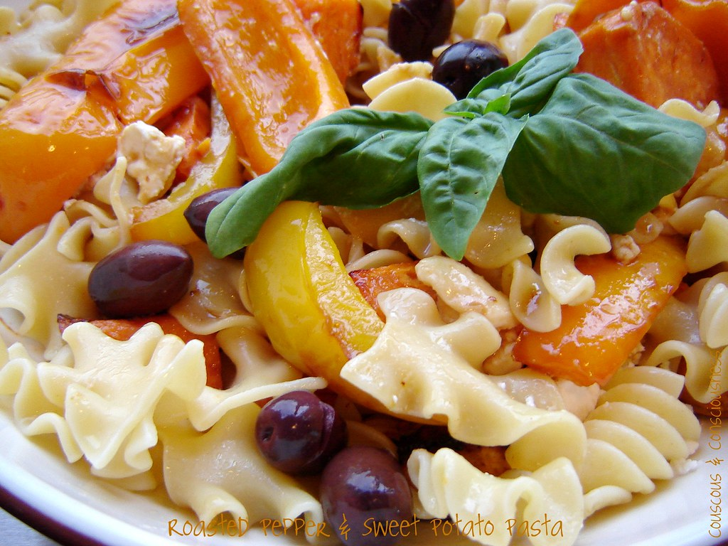 Roasted Pepper & Sweet Potato Pasta 2