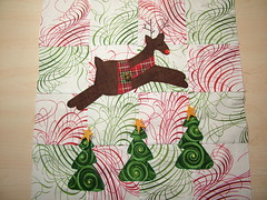 Jumping reindeer block