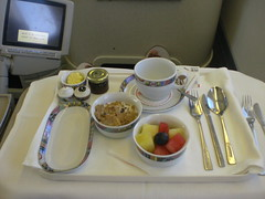 CIMG3522 (Flying blue_white_red) Tags: beer breakfast lunch j c air malawi airways zambia businessclass hotfood lusaka tusker kq oneworld boeing767