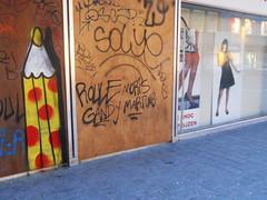 Sick pencil - erased :-( (ǝɹpɹoʇǝɹɐןıɥd) Tags: brussels streetart pencils graffiti belgium belgique tag belgië bruxelles graph crayons crayon brussel potlood créons