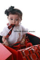 little angel (Ibrahim Khalil) Tags: shadow red portrait people baby white me angel studio relax photography little thing relaxing photographers shade 7d arabia mm arabian miss abdul lovly  2470mm alessa abdulrahman  pohtographer adulrahman  alestudio