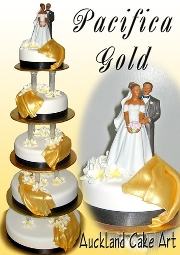 PACIFICA GOLD SAMOAN 5 TIER WEDDING CAKE