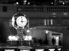 Almost 3 (Dru Dodd) Tags: new york nyc dru white 3 black clock mono time central grand olympus andrew dodd 3pm oclock e510