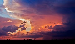 September storm clouds near sunset (Marvin Bredel) Tags: sunset sky storm oklahoma nature rain clouds september thunderstorm marvin kingfishercounty marvin908 therebeastormabrewin cloudsstormssunsetssunrises bredel marvinbredel