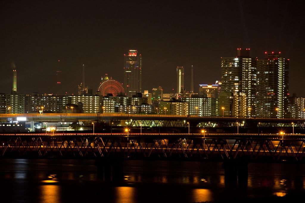 Osaka WTC at night