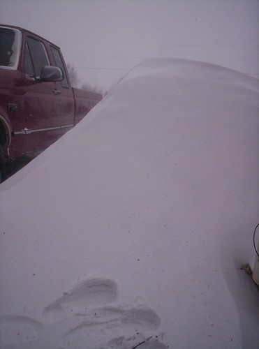 5 foot snow drifts