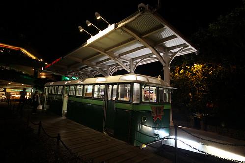 Historic Peak Tram on display