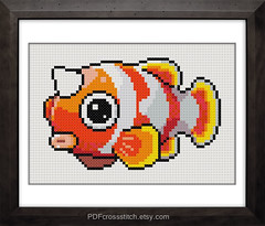 0010.Hornfish : PDF Cross Stitch pattern - BUY 1, GET 1 FREE (PDFcrossstitch) Tags: ocean sea orange chart fish cute kids digital print design crossstitch geek handmade embroidery patterns cartoon free hobby pixel pdf easy horn etsy simple dmc floss needlecraft stitcher pdfcrossstitch
