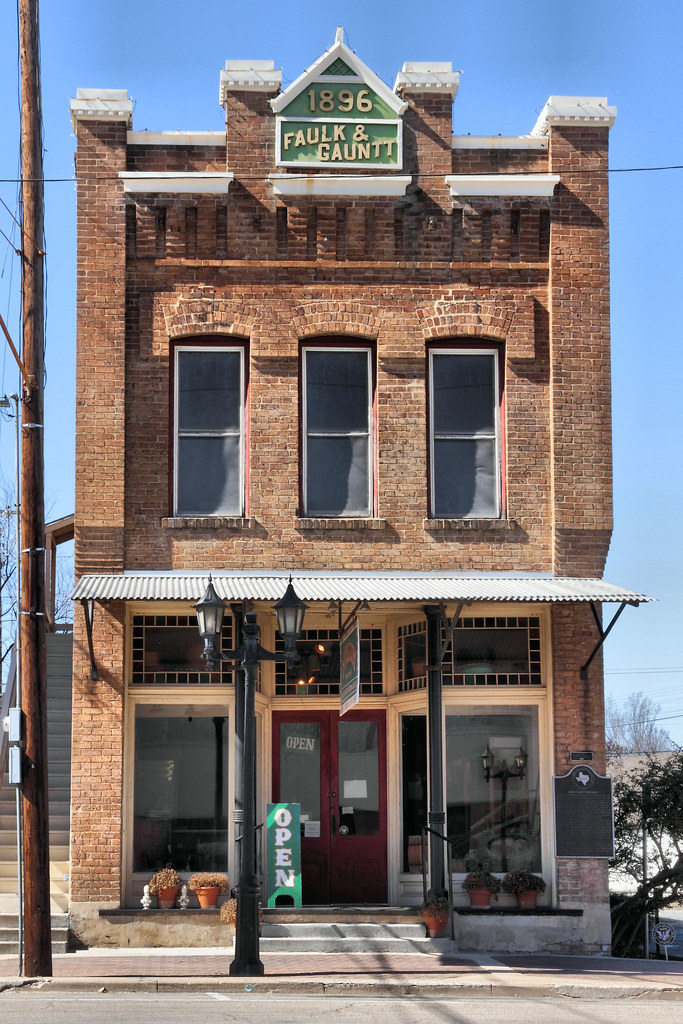 Faulk & Gauntt Building in Athens Texas - C1896