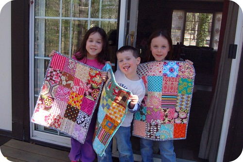 My kids & their mini quilts!