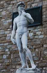 Michelangelo's David (Little Italy Photography) Tags: old city travel sculpture building men history tourism religious photography florence italian europe artistic beefy capital religion hard citylife holy tuscany dome sacred historical firenze fountains rotunda ornamental domes mythology renaissance europeanunion greekmythology studs portico relic corinthiancolumns destinations historicalsites chiseled romanmythology capitalcities traveldestinations colorimage archaeologicalsites sooc hccity 18105mmvrzoomnikkorlens