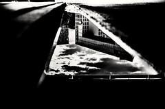 Mirror. (Blackbossa) Tags: black white bw blackandwhite whiteandblack streetphotography streetart street streetphoto streetscene germany hamburg spiegel mirror water art photo spiegelgebäude puddle fujifilm xt1 35mm clouds cloudy dramatic house complex cultur