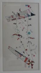 """""""Sans titre"""", 1944, Exposition """"Kandinsky, les années parisiennes 1933-1944"""", Musée de Grenoble, Grenoble, Rhône-Alpes-Auvergne, France."""