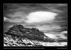 Clouds over Mt. Cirrus along the Icefields Parkway, Banff National Park, Alberta (kgogrady) Tags: infrared landscape spring alberta canada 2017 blackandwhite banffnationalpark canadianlandscapes blackwhite canadianrockies cans2s afternoon canadianrockieslanscape bw albertalandscapes canadianmountains canadiannationalparks ab clouds fujinon fujifilmxpro1 fujifilm westerncanada xpro1 xf18135mmf3556oiswr mountcirrus mountains icefieldparkway highway93 mtcirrus parkscanada nopeople noone ice snow photosofbanffnationalpark picturesofbanffnationalpark
