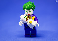 Joker Baby (jezbags) Tags: lego legos toys toy minifigure minifigures macro macrophotography macrodreams macrolego canon60d canon 60d 100mm closeup upclose dc dclego legodc joker baby cry sad angry blue