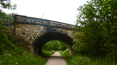 Railway bridge under A619, Baslow Rd, Bakewell (Monsal Trail) (dave_attrill) Tags: millers dale monsal trail station derby manchester buxton midland disused railway line trackbed footpath bridleway cycle path derbyshire peak district wye valley march 2017 winter closed 1968 barbara castle bakewell june bridge a619 baslow road overbridge