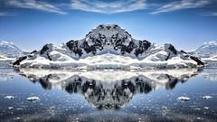 Antarctic Mirror (EXPLORED) (Fiona Smith (Prev. Fiona McAllister Photography)) Tags: antarctic antarctica polar reflection landscape travel exploration reflections mountain symmetry mirrored ocean