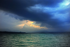 storm on the garda lake in HDR