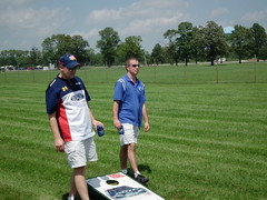 Lee and Dave Play Cornhole