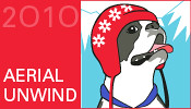 2010 Ravelympics Aerial Unwind badge