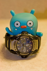 Uglyworld #678 - Differences In Time (208-365) (www.bazpics.com) Tags: blue night project big day toe time sleep watch casio difference 365 awake gshock uglydolls 2010 babo barryoneilphotography