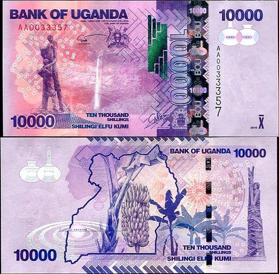 10 000 Šilingov Uganda 2010