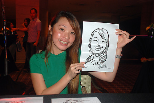 Caricature live sketching for Travel Partners Appreciation Dinner - World Fiesta - 10