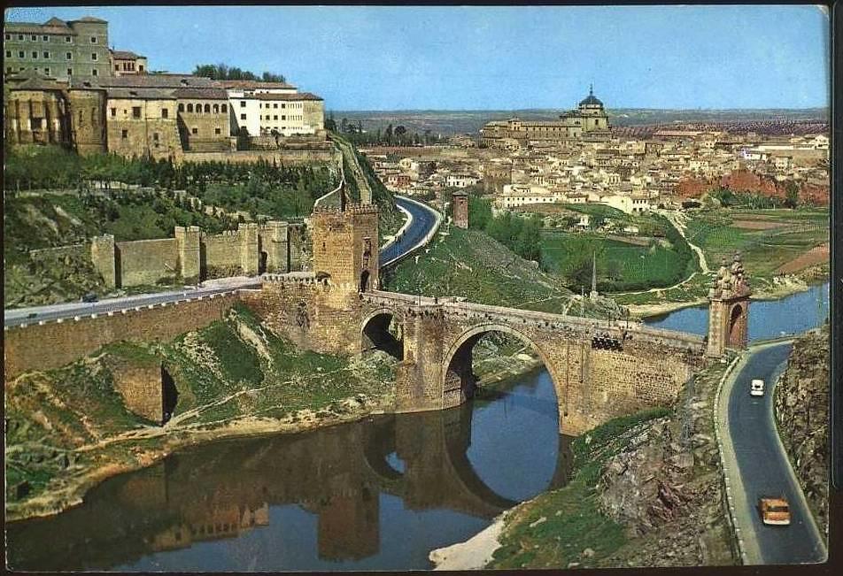 Puente de Alcántara a mediados del siglo XX