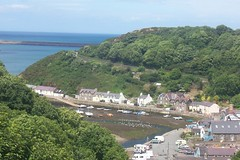 LOWER TOWN FISHGUARD (joemor2) Tags: trees sea cars water wales buildings boats coast westwales rooftops roofs british pembrokeshire dylanthomas fishguard undermilkwood filmlocation britishseascapes lowertownfishguard