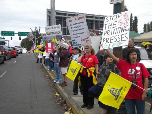 Oregon Tea Party Protest