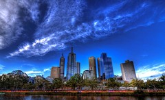 Cirrus stream over Melbourne CBD (saahmadbulbul) Tags: blue light cloud shine explore cbd hdr cirrus lovelyday melboure digitalcameraclub