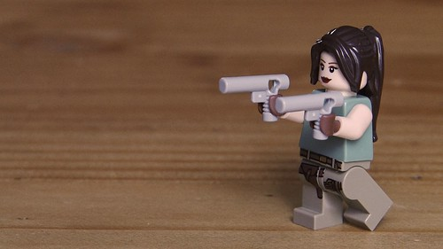 Lara Croft from the side