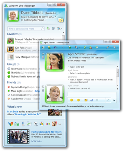 Ultima Version de Messenger: MSN mas Moderno y Actualizado